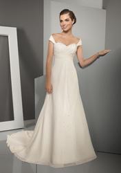 греческое свадебное платье- ампир