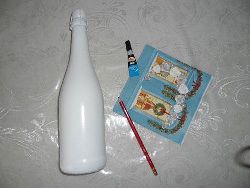 украсить бутылки шампанского на свадьбу своими руками
