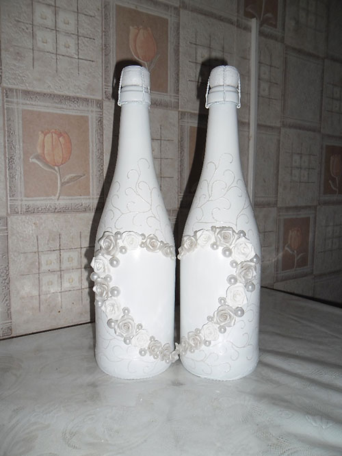 Свадебные шампанское своими руками мастер класс