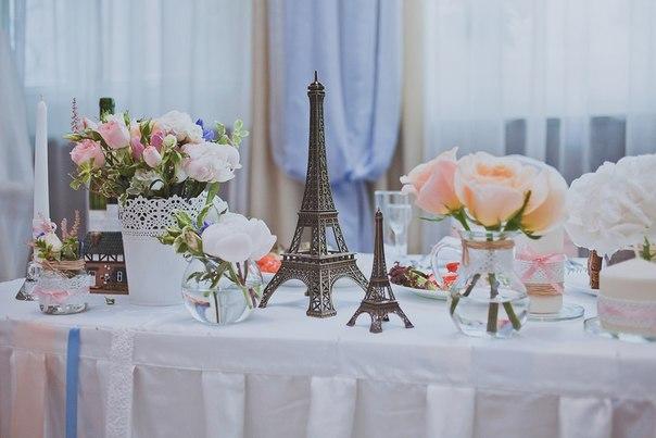 Украшение свадебного стола по французски