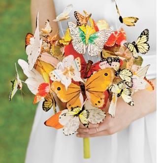 Букет невесты из бабочек