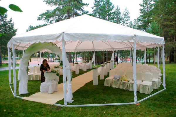 шатёр для выездной регистрации свадьбы
