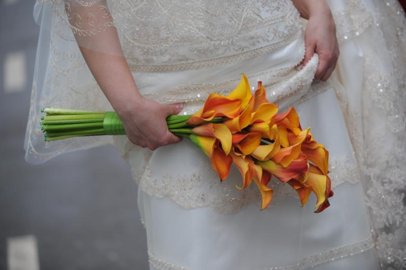 Гибкий букет невесты