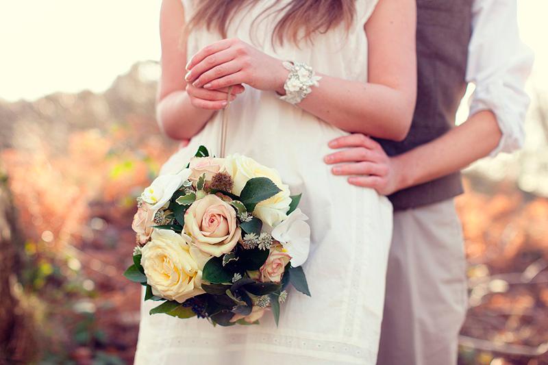 букет невесты в форме шара