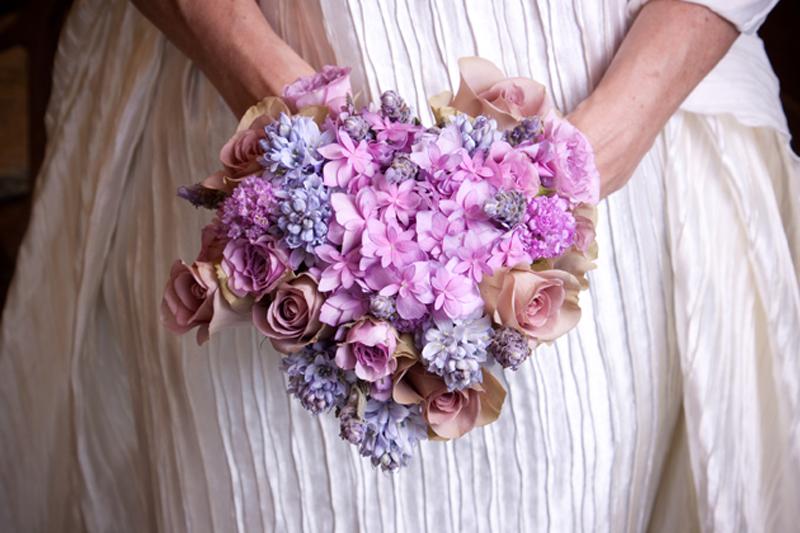 букет невесты в форме сердца