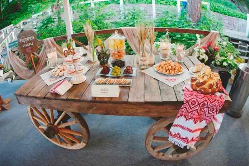 Декор для русской свадьбы
