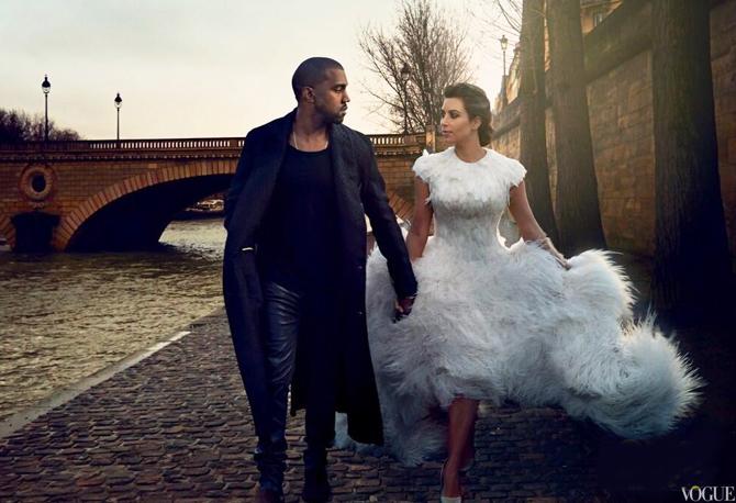 Ким кардашьян в красивом свадебном платье