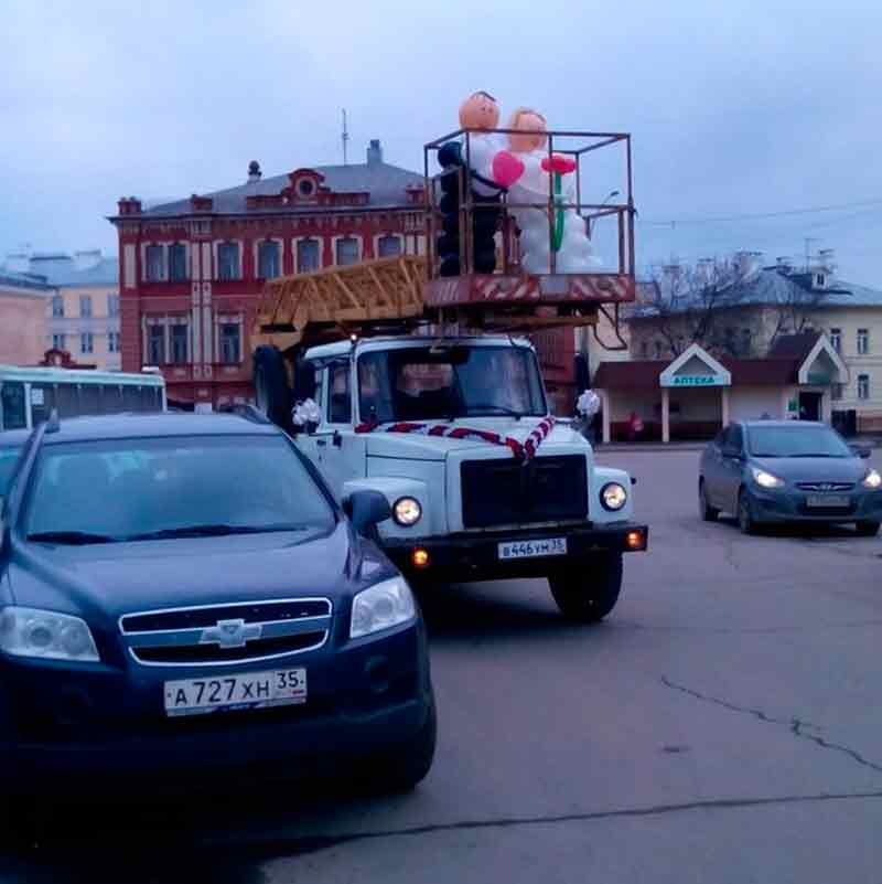 Необычная свадьба в Вологде