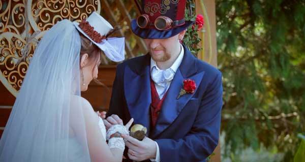 жених и невесты в стиле стимпанк